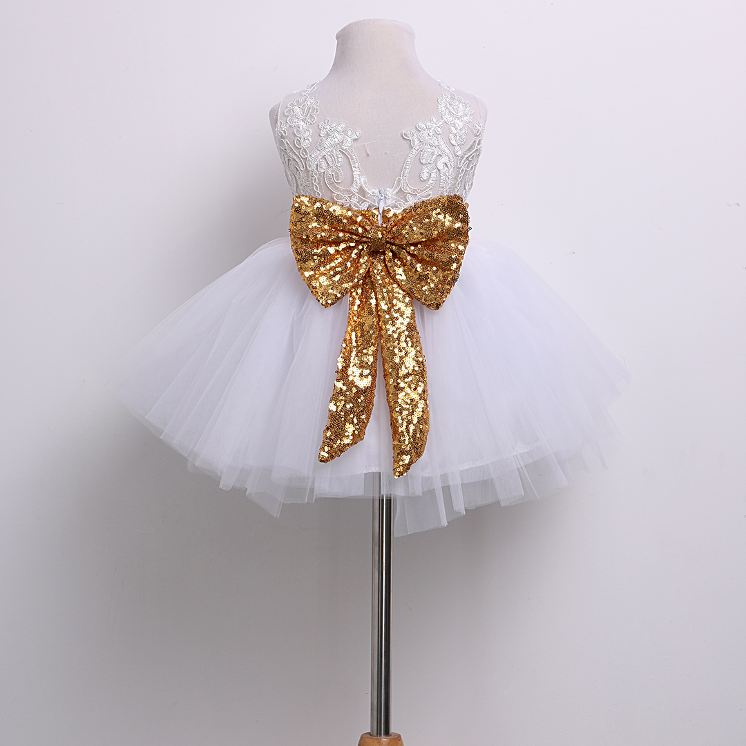 155033c05e Christmas White/Pink 2017 Shiny Princess Kids Baby Girl Sequins ...