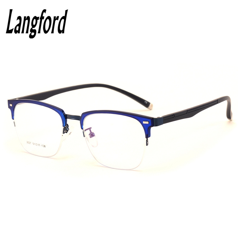 6e93f5fe487f4 Óculos vintage frame homens mulher vidros ópticos armações de óculos  eyeware flexível projetos grande hipster óculos de meia armação 2027