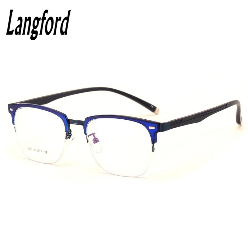 Vintage lunettes cadre hommes optique lunettes femme eyeware flexible  spectacle cadres dessins grand hippie lunettes demi-trame 2027 8a6a5bd3d7f