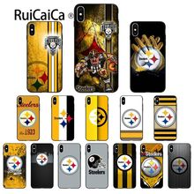 купить Ruicaica Pittsburgh Steelers logo Customer High Quality Phone Case for iPhone X XS MAX  6 6s 7 7plus 8 8Plus 5 5S SE XR дешево