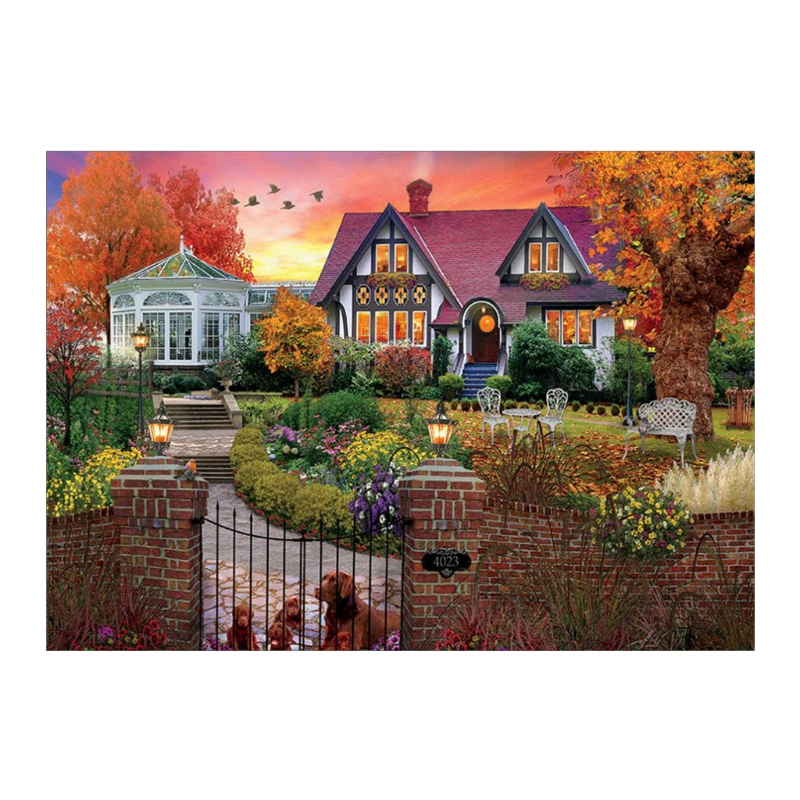 Embroidered Cloth Villa 5D Diamond Embroidery Painting DIY Painting Cross Stitch Home Decoration 2018 New