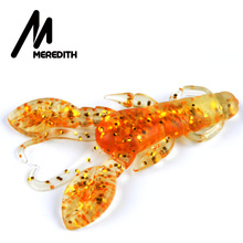 MEREDITH 10pc/Lot Craws Soft Fishing Lure 60mm/5g Silicone Creature Lure For Fishing Soft Bait Shrimp Bass Bait Peche Gear