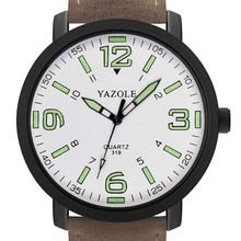 New Luxury Men\'s Watches Luminous PU Leather Men Military Q