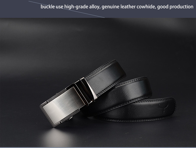 COWATHER 2018 luxury men`s genuine leather belts automatic alloy buckle better gifts