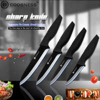 COOBNESS Brand Ceramic Knife 3 inch 4 inch 5 inch 6 inch Kitchen Knives Zirconia Black Blade Fruit Chef Knife Vege Cooking Tool