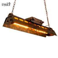 American industrial iron art pendant lights for coffee store bar dining room country hanging lamp retro Internet cafe fixtures