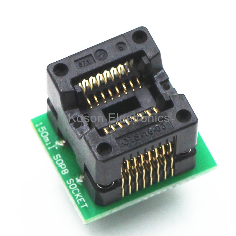SOP16 TO DIP16 SOP16 turn DIP16 SOIC16 to DIP16 IC socket Programmer adapter Socket 150mil sop8 to dip8 programming adapter socket module black green 150mil