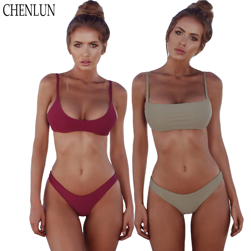 CHENLUN New sexy 2018 Bikini Set Summer Solid Swimwear Brazilian Bikini Women Beach Wear Bathing Suit Popular Female Swimsuit