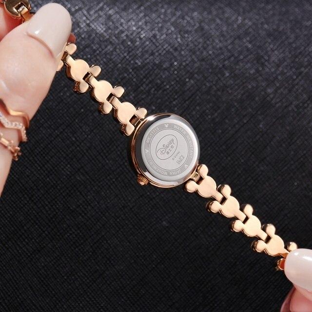 Mickey Mouse Bling Strass Signore Di Lusso del Braccialetto Alla Moda Oro Argento Acciaio Orologi Disney Women Dress Bella Crystal Clock