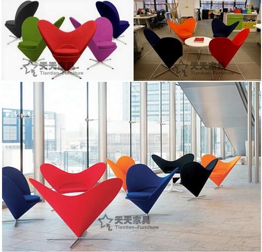 Heart of Cone Chair heart-shaped Chair, sofa Chair. Art photography Chair. The Chair