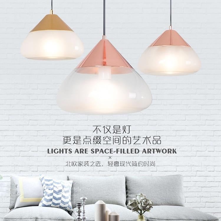 glass pendant lights for living room bedroom restaurant hanging modern nordic indoor deco loft E27 pendant lamp