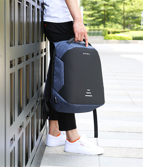 Waterproof Antitheft Laptop Charge Backpack