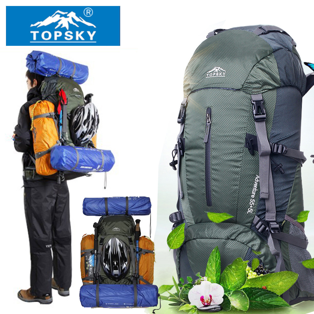 658684c507c6 Topsky Mountaineering bag Outdoor backpack Men women 40L 50L 60L Outdoor  Hiking Camping travel bag large capacity Free Shipping-in Climbing Bags  from Sports ...