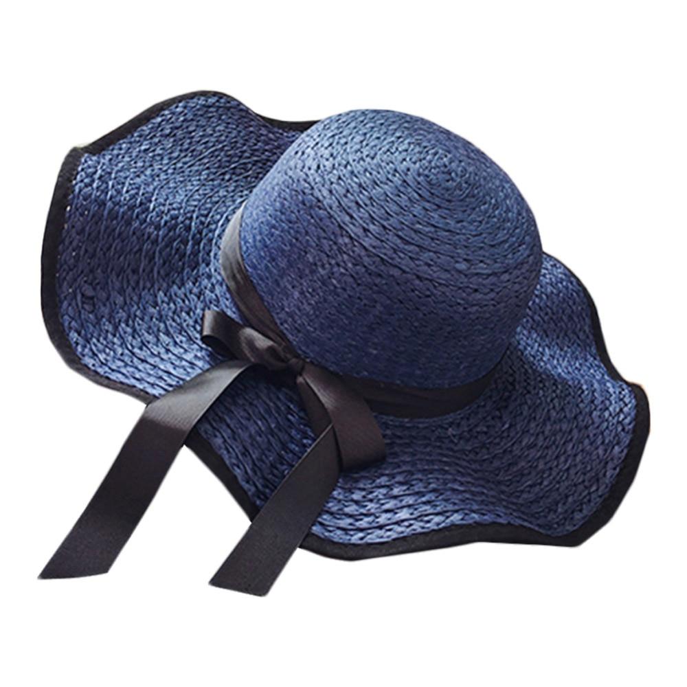 Klug Korea Stil Sommer Frauen Mädchen Faltbare Strand Hut Urlaub Sonne Bowknot Visier Hut Headwear Eimer Hut Zubehör #279338 Jade Weiß Bekleidung Zubehör Eimer-hüte
