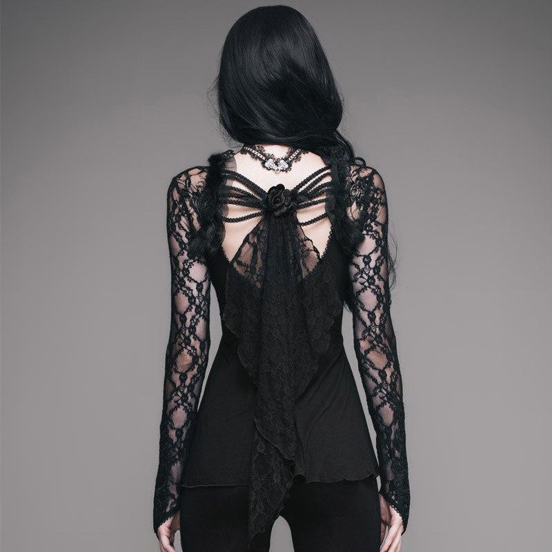Женская открытая кружевная рубашка 2019 новая сексуальная глубокий v образный вырез с рукавом, кружевная вышивка, эластичная талия, 100% хлопок,... - 2