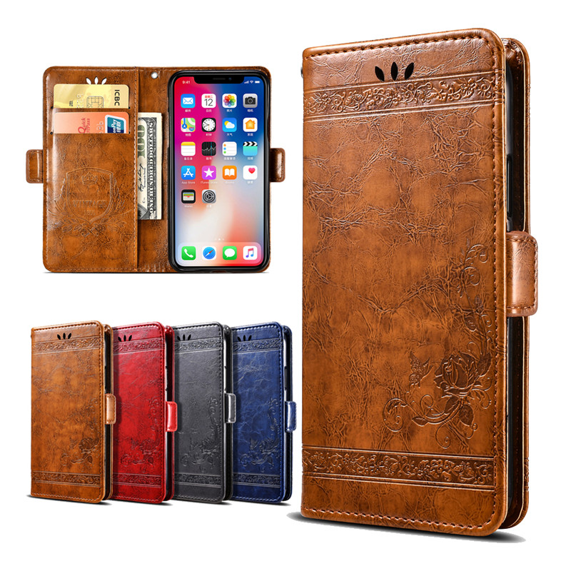 Embossed Flowers Cover Wallet Vintage Leather Case For Google Pixel 2 3 Pixel XL 2 3 XL Coque Flip Cover