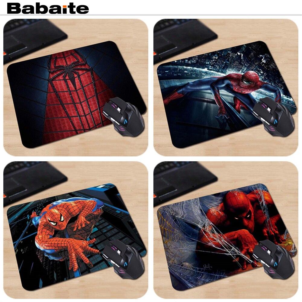 Babaite Pattern Comfort Non-Skid Superhero Spiderman Anti-Slip Laptop PC Mice Pad Mat For Optical Laser Mouse Drop Shipping