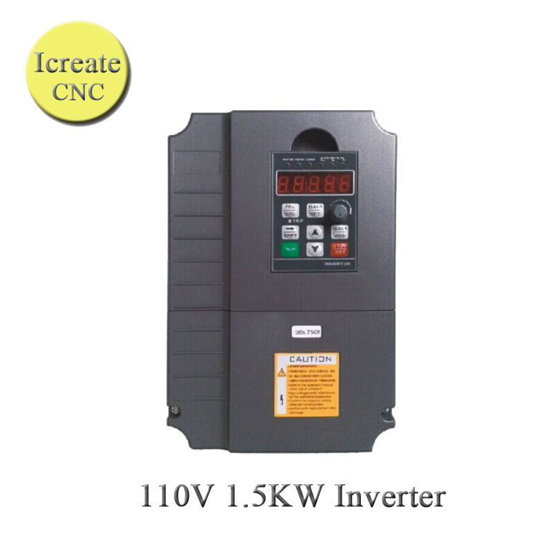 Free Shipping Frequency Drive VFD Inverter 1-3 phase VFD 1.5KW AC 110V HY Inverter for Spindle Frequency Converter + Manual inverter vfd frequency ac drive s310 2p5 h1bcd new 1 phase 220v 3 1a 0 4kw 0 5hp