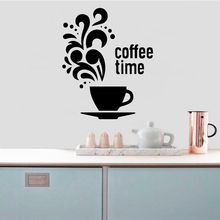 DIY Art Coffee Wall Sticker Pvc Removable Diy Home Decoration Accessories
