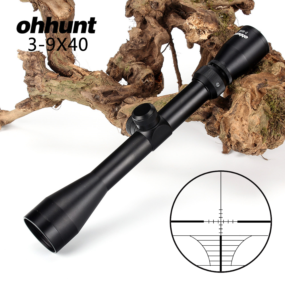 Tactical ohhunt 3-9X40 Optics Riflescopes Rangefinder Reticle Crossbow Airguns Shooting Hunting Rifle Scope with Mount Rings vector optics nova 3 5 10x42 ao objective focus hunting shooting riflescope 1 inch monotube with weaver or dovetail mount rings