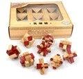 Набор из 9 ШТ. Классический IQ Деревянные Логические Burr Пазлы Игры Игрушки для Взрослых Детей Детей