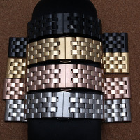 New arrival men lady 20mm 22mm 24mm Watchband straps Gold Rose gold Black Silver Stainless Steel Solid Links Watch Band Bracelet