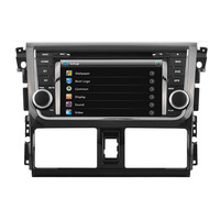Touch Screen Car Dvd Autoradio Multimedia For Toyota VIOS Yaris 2014 With Gps Navigation Dual