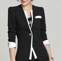 Spring Autumn Blazer Jacket For Woman Vintage Design Long Sleeve Blazer Suit Female 4XL