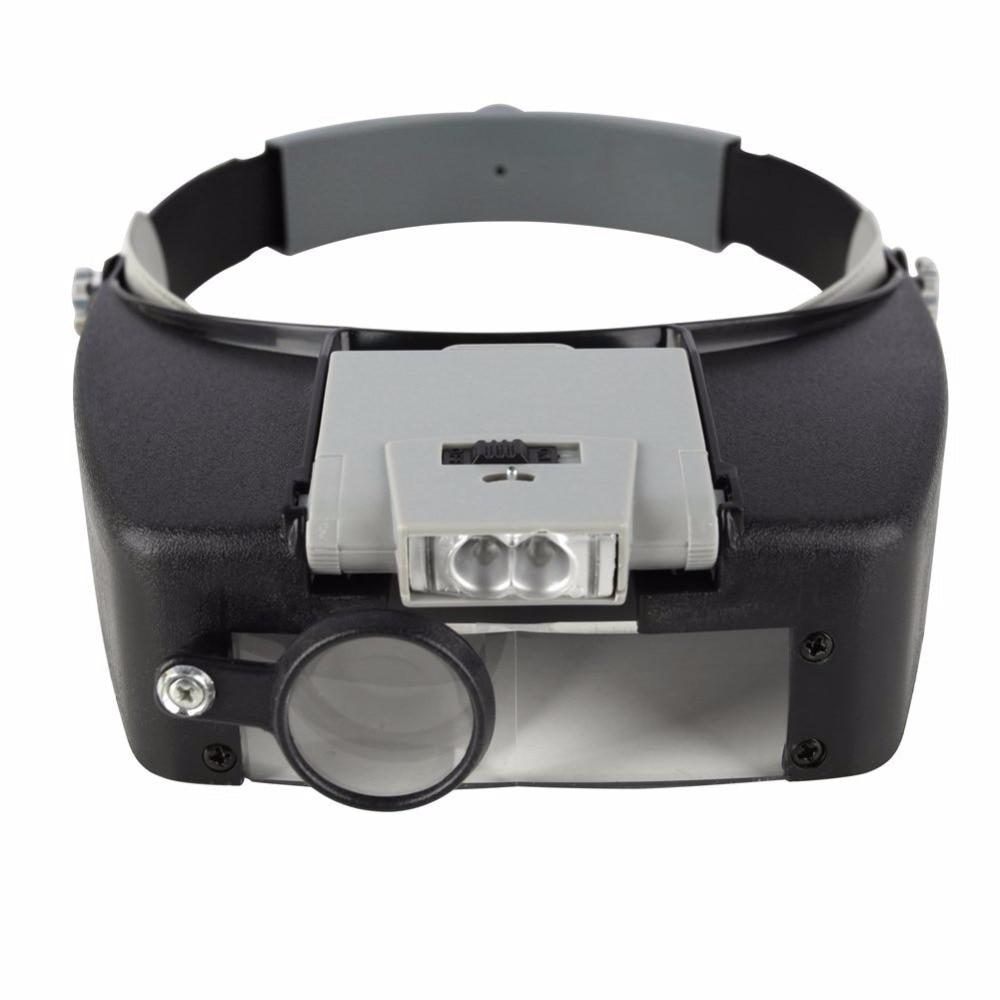 Beileishi Magnifying Glass Headband Eye Repair Magnifier LED Lights 1.5x 3 x 8.5x 10x Adjustable Loupe Optical Lens Thirdhand