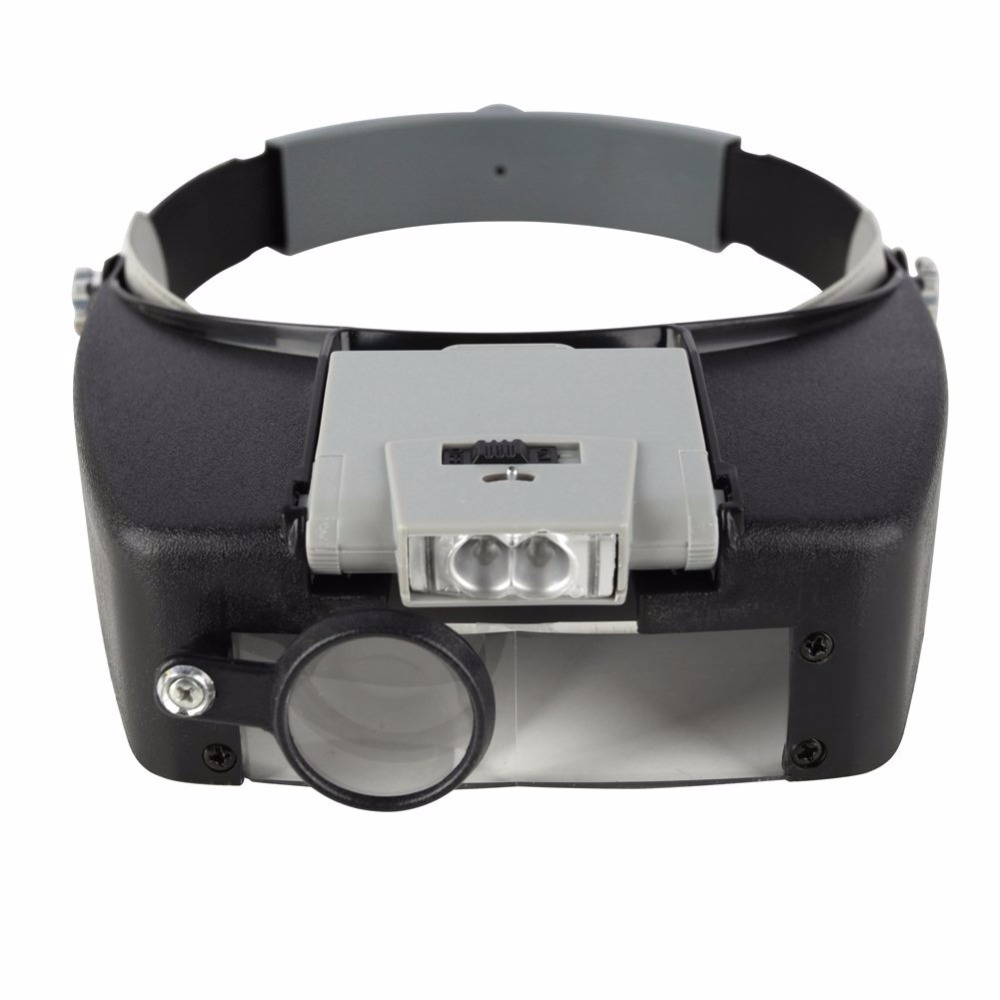 Beileishi Magnifying Glass Headband Eye Repair Magnifier LED Lights 1.5x 3 x 8.5x 10x Adjustable Loupe Optical Lens Thirdhand