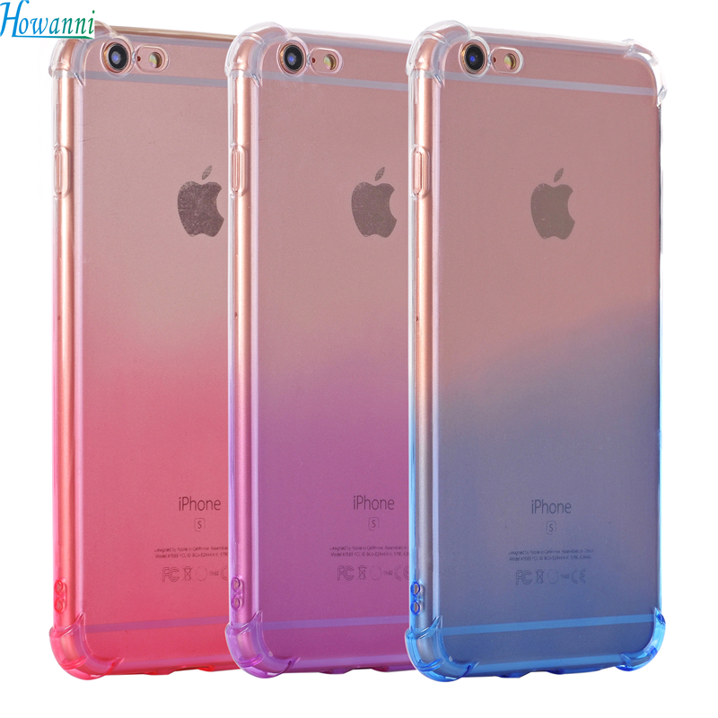 Gradient Color Case For Apple iPhone 7 Case Silicone 4.7 Luxury Soft Drop Back Cover For Coque Apple iPhone 7 Cover Capa