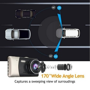 Image 4 - 4.0 Inch Dual Lens Car DVR Camera 170 Degree Auto Driving Recorder G sensor 1080P Dash Cam with Rear View Camera