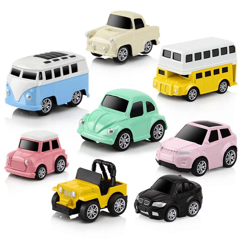 8Pcs Mini Pull Back Car Children's Toy Car Pull-Back Vehicle Alloy Puzzle Q Version Mini Car Model For Boys Children Gifts