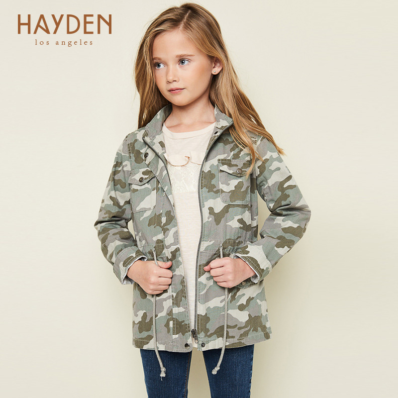 teenage girls camo jackets and outerwear coats autumn spring 7 9 12 years girls clothing kids girl jackets cotton children coats