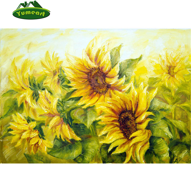 Free Shipping Needlework DIY Diamond Painting Cross Stitch Sewing Knitting Needles Embroidery Pattern Romantic Sunflower