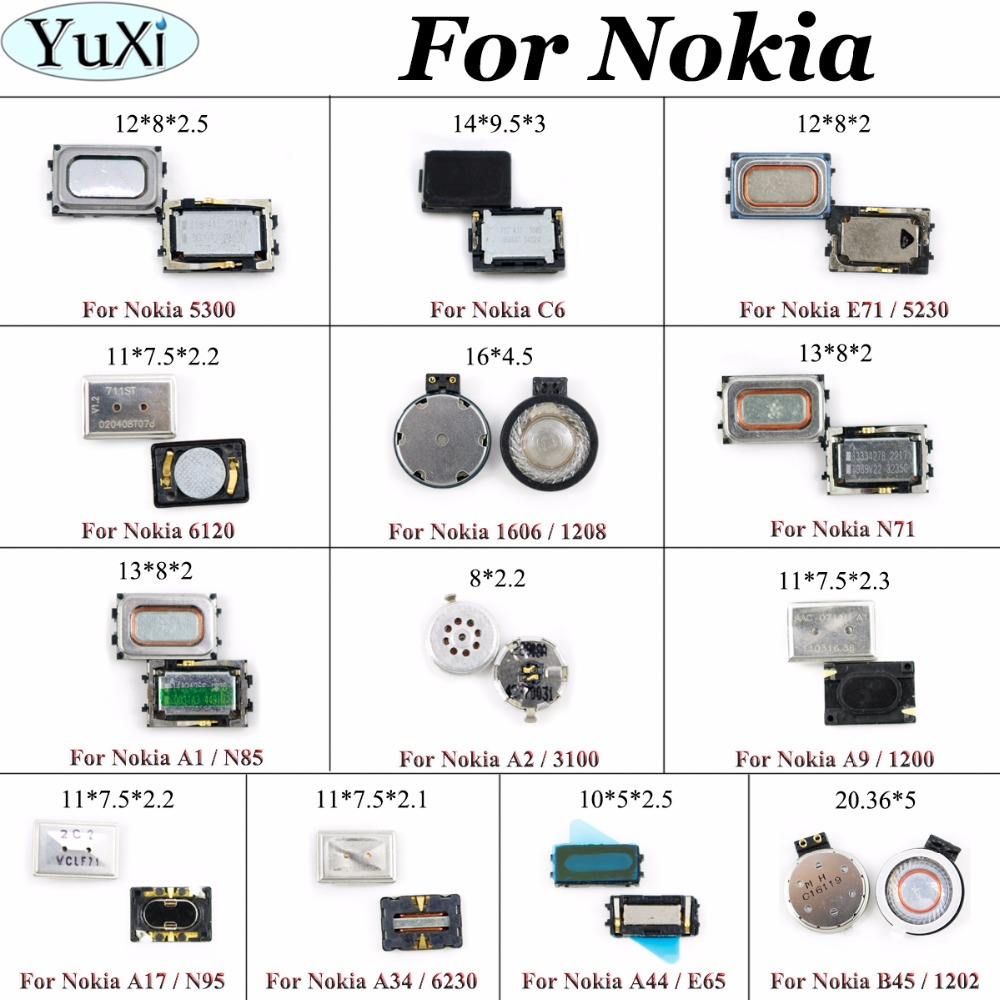 YuXi New For Nokia Lumia X XL 730 735 950XL 640 Earpiece Speaker Receiver Earphone Ear speaker for NOKIA 5300 5230 A17 N95 3100 image