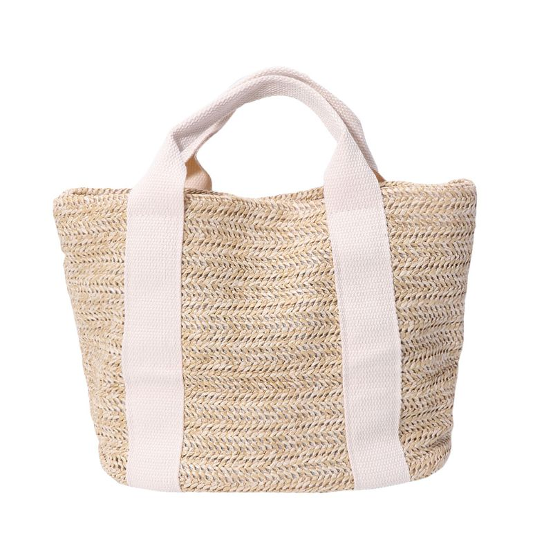 Premium Quality Women Fashion Braided Straw Summer Beach Bag Shopping Tote Shoulder Bags Large Capacity Handbag
