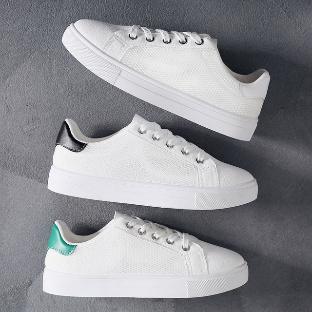 d483583ab7fab Printemps Sneakers pour Femmes Blanc Casual Chaussures Dentelle Sneakers  Toutes Les Sélections Chaussure Femme Zapatillas Mujer
