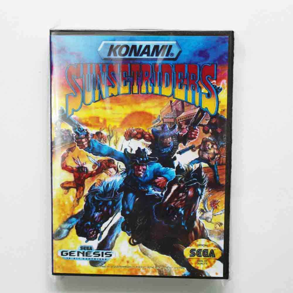 Sunset Riders Game Cartridge 16 bit MD Game Card With Retail Box For Sega Mega Drive
