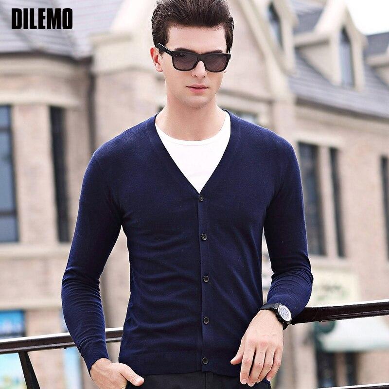 2019 Di Alta Qualità Di Nuovo Modo Di Marca Mens Maglione Pullover Cardigan Slim Fit Maglione Di Lavoro A Maglia Di Autunno Di Stile Coreano Casual Abbigliamento Uomo Design Accattivanti;