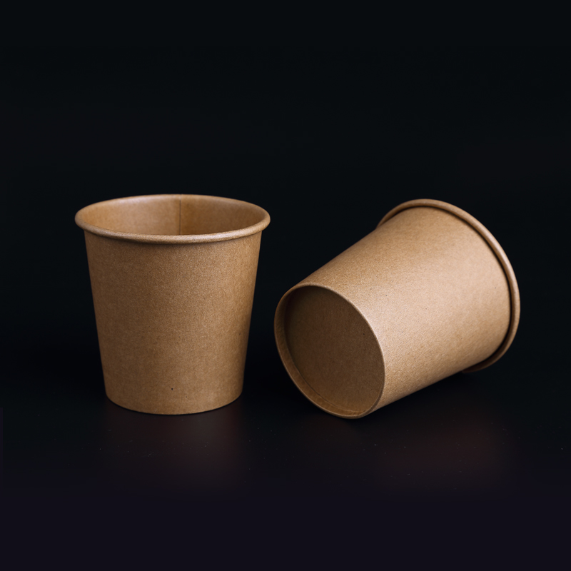 100pcs/pack 100ml Small Kraft Paper Cups Disposable Drinking Cup Coffee Tea Milk Paper Cup High Quality Party Supplies