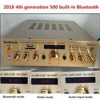 Кара ОК USB SD MP3 Bluetooth неразрушающего дистанционный пульт 220 В 2,0 канала 300 Вт высокой мощности HIFI домашнего аудио усилитель