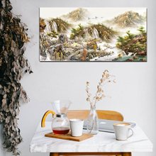 Hot Mountains-and-waters Painting Landscape Canvas Print Fashion Housewarming Gift for Home Decor High Quality Wall Art