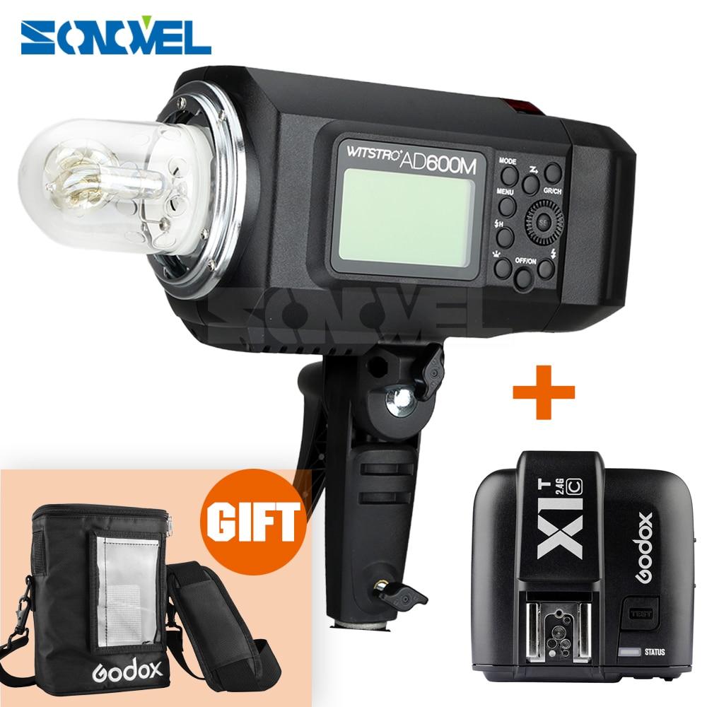 Godox AD600M 600 W 2.4G 8700 mAh Li-na Bateria Portátil Transmissor de Flash Strobe Godox Montagem + X1C para Canon 5D 6D 80D