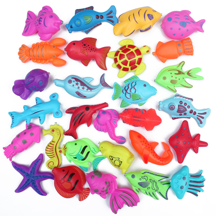 kids children Magnetic Fishing Toys Game Plastic Floating Fish Toy Baby Boy Girl Bath toy