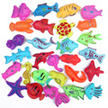30 unids/lote niños niños Juguetes Magnéticos De Pesca Juego De Plástico Flotante Fish Juguete de Bebé Niño Niña juguete del Baño
