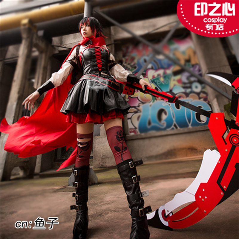 Animation RWBY Season4 Red Rose Cosplay Costume Cape Cool A
