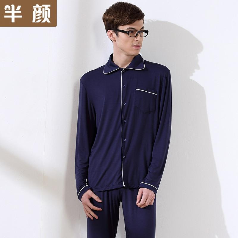Banyan Autumn Casual modal cotton Pajama Set For Men pajama bottoms Long sleeve home lounge set Plus Size Pajamas 071905