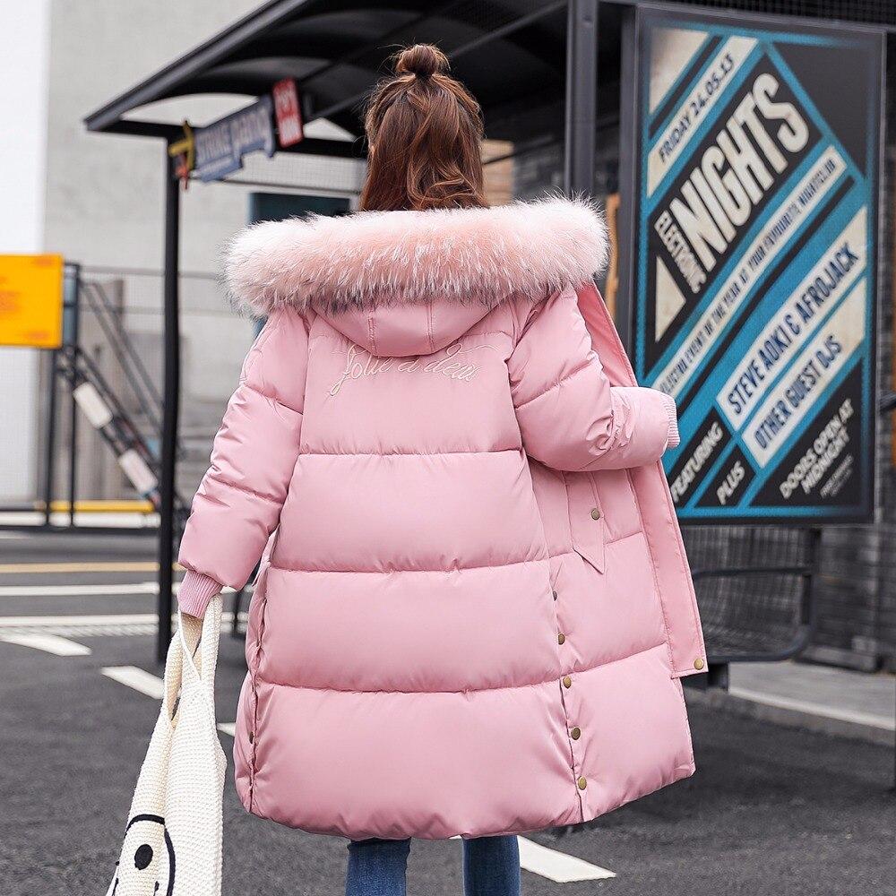 Hiver Col 2018 Pour Capuchon gray Red Fourrure Raglan Coton pink Chaud Manteau Taille À white Tops Femmes De La rose black Étudiant Plus Grand Manteaux Femme Vestes Manches Creamy qXtxA0