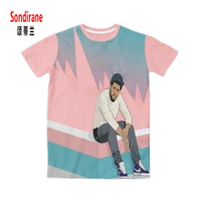Sondirane Size J Cole X Cole World 3D Sublimation Print Custom Made T-shirt Summer Short Sleeve Hip Op Tops Clothing Plus Size
